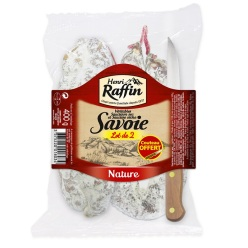 368 - Lot de 2 - saucisson saucisse + couteau offert